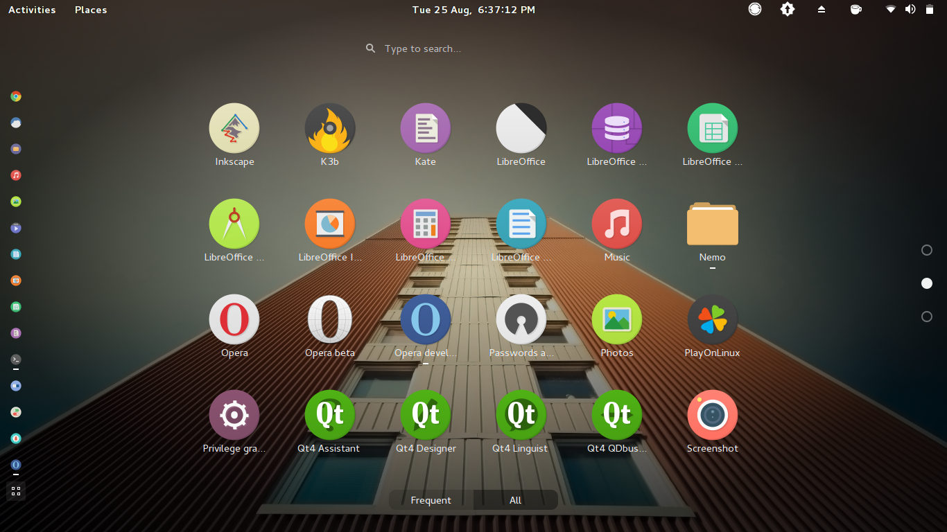 Second Page of GNOME Shell All Applications View