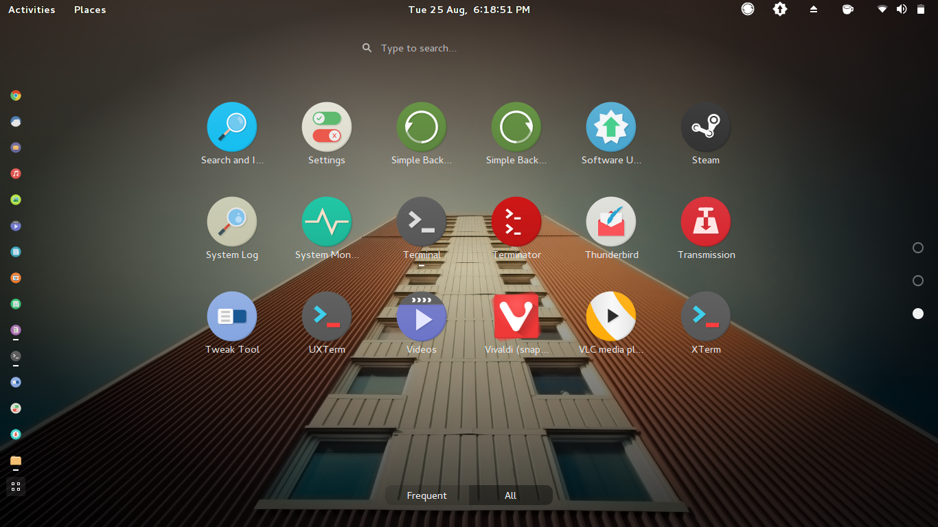 Third Page of GNOME Shell All Applications View