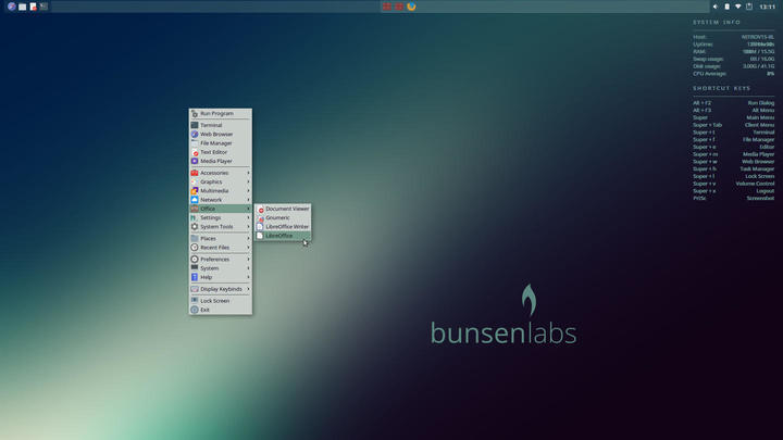 BunsenLabs Helium Review | ORDINATECHNIC