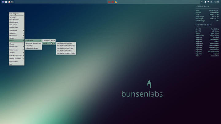 BunsenLabs Helium Review   ORDINATECHNIC
