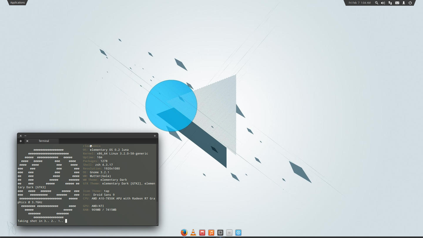 Wingpanel Slim on elementary OS 0.2 Luna
