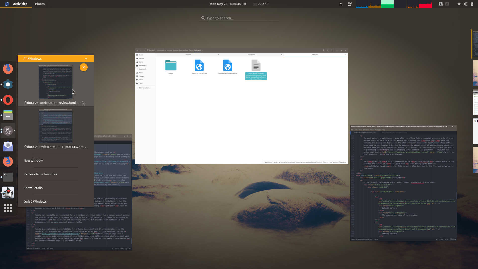 Fedora 28 Workstation Review | ORDINATECHNIC