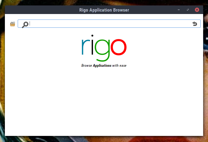 Sabayon's Rigo package management tool running in Cinnamon