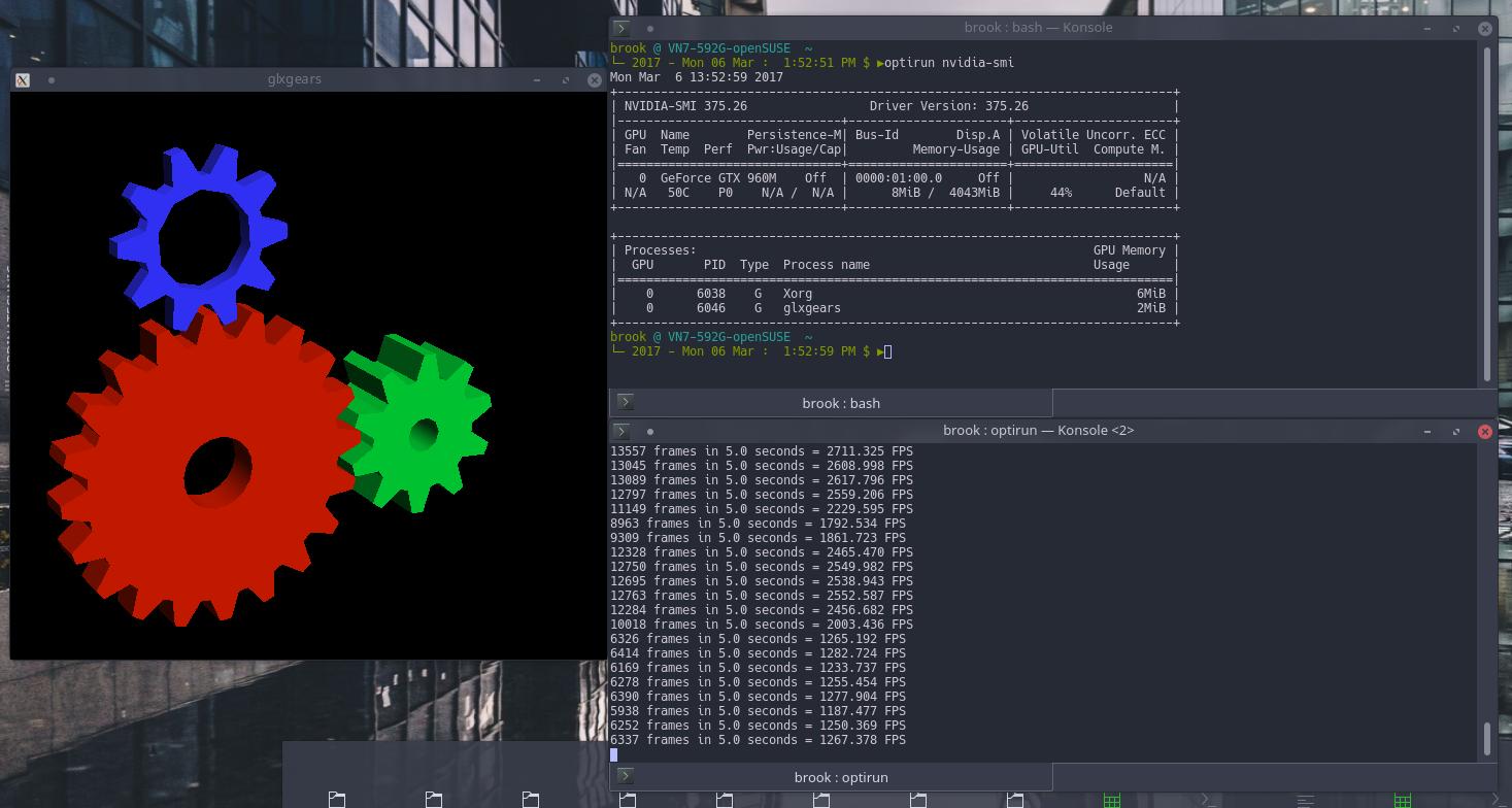 openSUSE Tumbleweed [Snapshot 20161204] Nvidia Hybrid