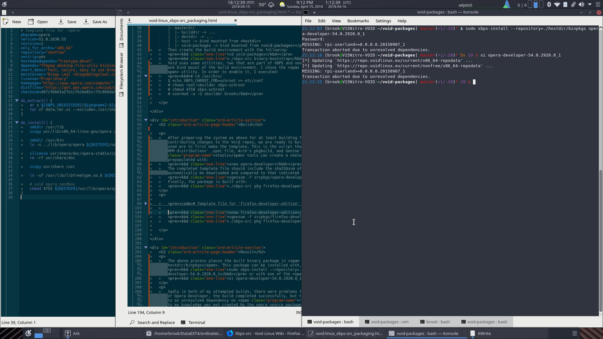 Void Linux: Creating Binary Packages Using xbps-src