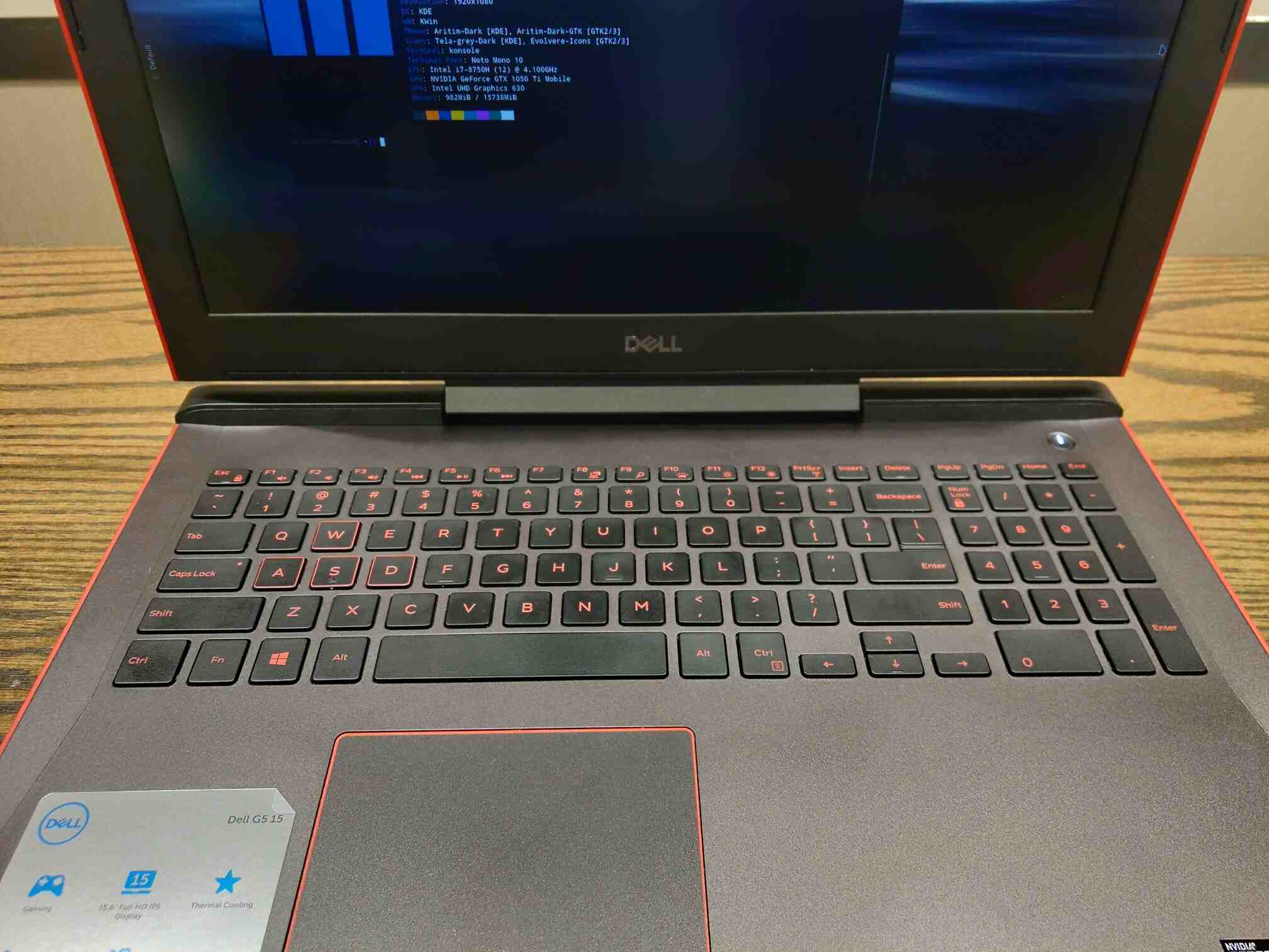 Dell G5-5587 Review for Linux Users [G5-5587-7037RED-PUS